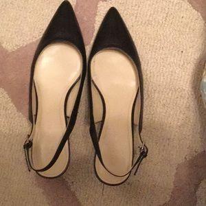 Marc Fisher TIFFANI leather sling back heels